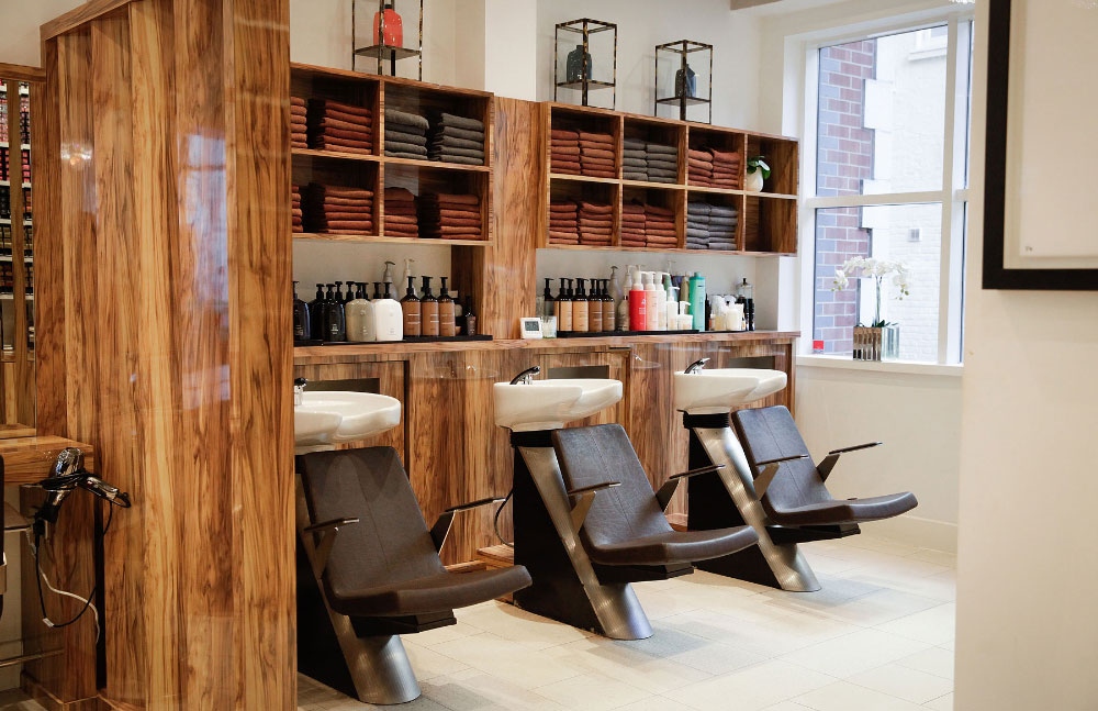Backwash at hair salon Hiro Miyoshi Mayfair