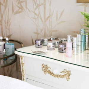 ELEMIS products at the beauty room at Hiro Miyoshi at The Ritz